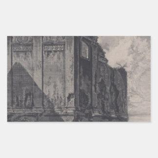 Så - det kallade Tempelet av Salus, på vägen Rektangulärt Klistermärke