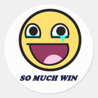 Så mycket seger! runt klistermärke