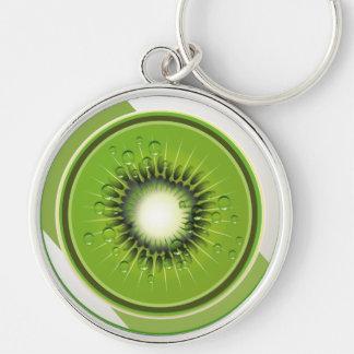 Så nytt! Kiwi Keychain Rund Silverfärgad Nyckelring