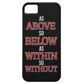 Så över så nedanfört som Within så Without iPhone 5 Skal