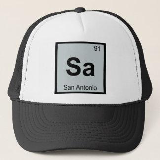Sa - Periodiskt bord för San Antonio Texas kemi Keps