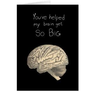 Så stor hjärna hälsningskort
