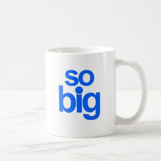 Så stort - blått kaffemugg
