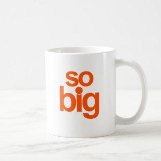 Så stort - orange kaffemugg