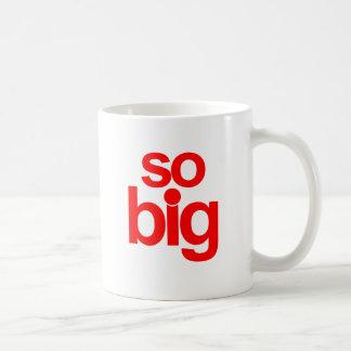 Så stort - rött kaffemugg