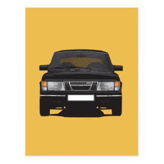 Saab 900 turbo (svarten) vykort