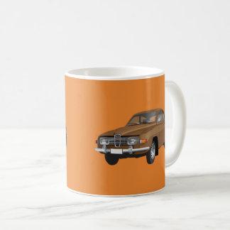 Saab 96, brunt, kaffemugg