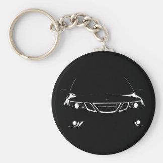 Saab 9-3 Aero Keychain Rund Nyckelring