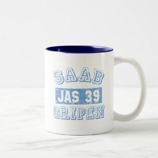 Saab Gripen - BLÅTT Två-Tonad Mugg