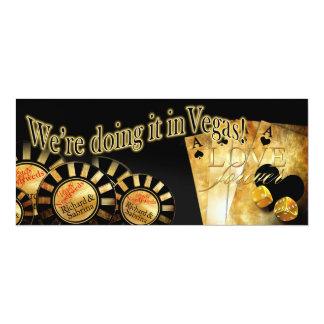 Sabrina Las Vegas Deluxe bröllop 10,2 X 23,5 Cm Inbjudningskort