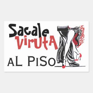 Sacale Viruta al Piso - Tango Rektangulärt Klistermärke