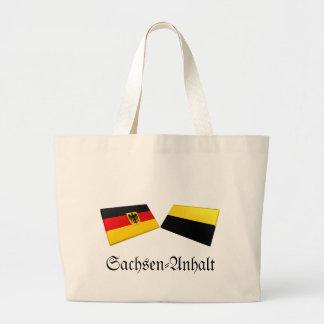 Sachsen-Anhalt Tysklandflagga belägger med tegel Kassar