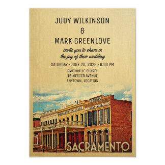 Sacramento bröllopinbjudan Kalifornien 12,7 X 17,8 Cm Inbjudningskort