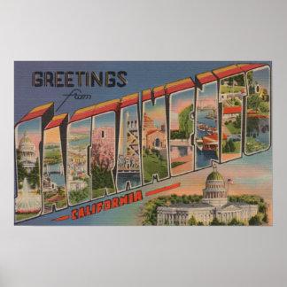 Sacramento CaliforniaLarge brevplatser 2 Poster