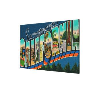 Sacramento CaliforniaLarge brevplatser Canvastryck