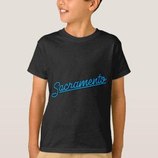 Sacramento i cyan tee shirt