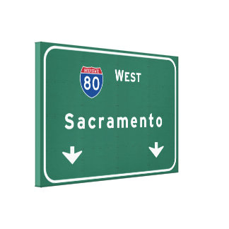 Sacramento Kalifornien Interstate Canvastryck