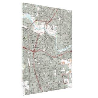 Sacramento Kalifornien karta (1992) Canvastryck
