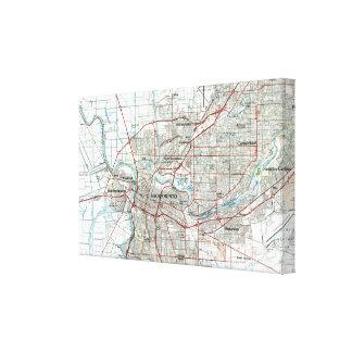 Sacramento Kalifornien karta (1994) Canvastryck
