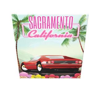 Sacramento Kalifornien reser affischen Canvastryck