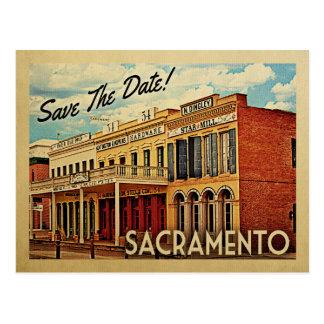 Sacramento spara datera Kalifornien Vykort