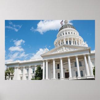 Sacramento statlig huvudstad av Kalifornien Poster