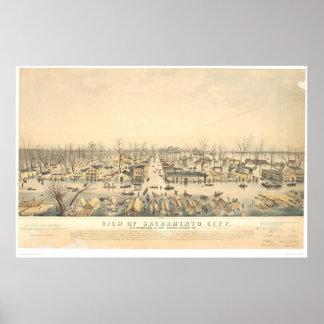 Sacramento under floden av 1850 (1586A) Poster