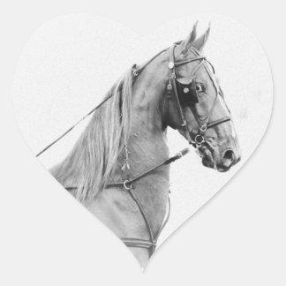 Saddlebred tillförsel!! hjärtformat klistermärke