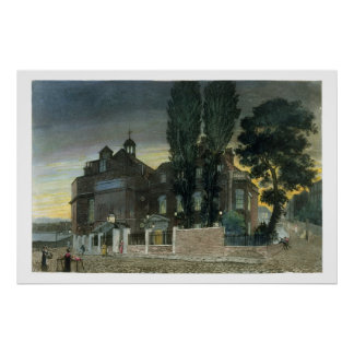 Sadlers brunnar, 1826 (färgad gravyr) poster