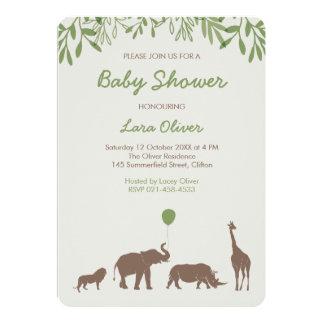 Safaribaby showerinbjudan 12,7 x 17,8 cm inbjudningskort