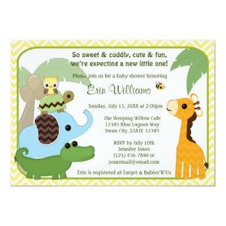 Safarien behandla som ett barn baby 12,7 x 17,8 cm inbjudningskort