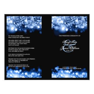 Safir för ljus för elegant bröllopprogram reklamblad