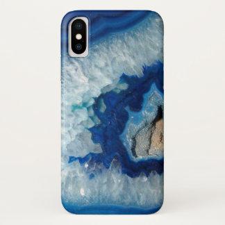 SafirblåttAgate Geode