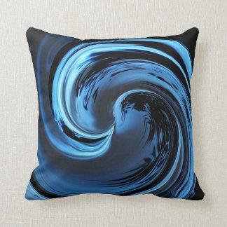 Safirblåttön vinkar dekorativ kudde