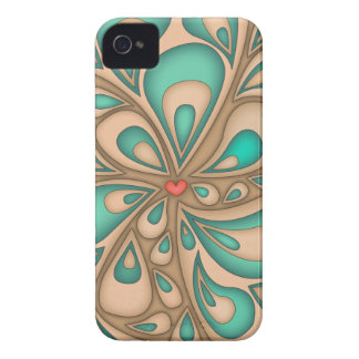 Saftig hjärtablackberry fodral iPhone 4 Case-Mate skydd