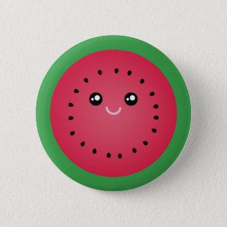 Saftig vattenmelonskiva gulliga Kawaii roliga Standard Knapp Rund 5.7 Cm