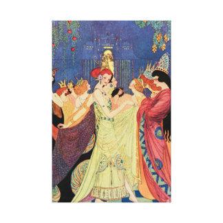 Saga för tolv dansa Princesses Vintage Canvastryck