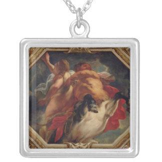 Sagittarius från teckenet av zodiacen silverpläterat halsband