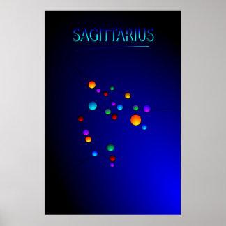 Sagittariuskonstellationaffisch Poster