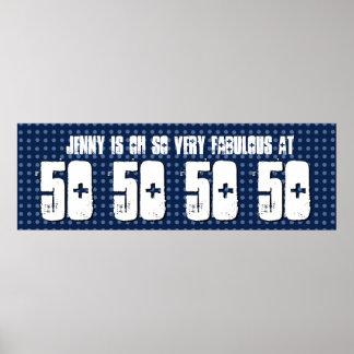 Sagolik 50th födelsedagsfestbanerGrunge Z60B Poster