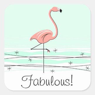 Sagolik FlamingoAqua! klistermärken kvadrerar