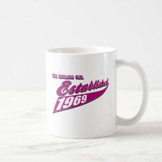 Sagolik flicka etablerad 1969 kaffemugg