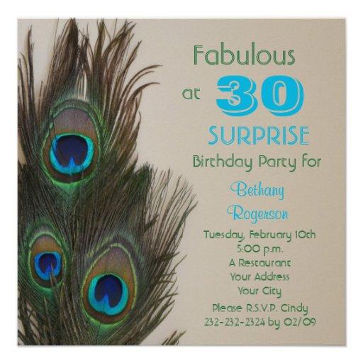 Sagolik inbjudan för överrrakning30års födelsedagp