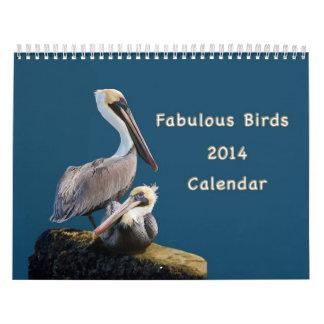 Sagolika fåglar kalender för 12 månad