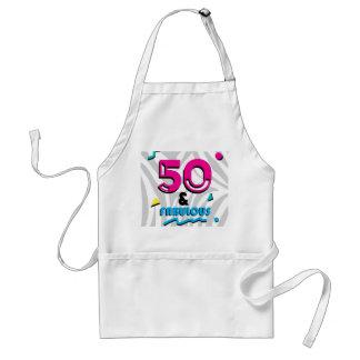 Sagolikt 50th födelsedagsfestförkläde förkläde