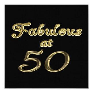 Sagolikt på inbjudan för 50 party