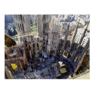 Sagrada familia, antenn, Barcelona, Spanien Vykort
