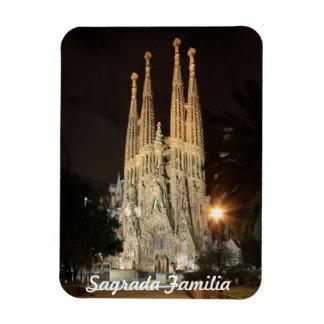 Sagrada Familia på natten Magnet