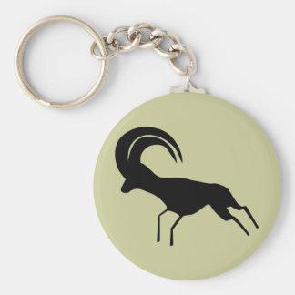 Saharan antilop för stenkonst rund nyckelring