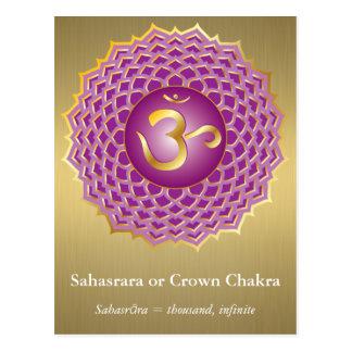 Sahasrara eller kronaChakra vykort